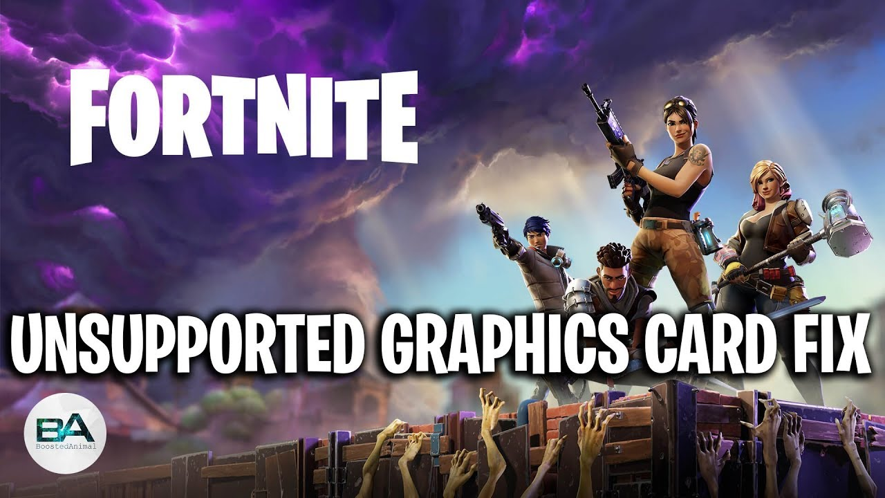 how to run fortnite without graphics card