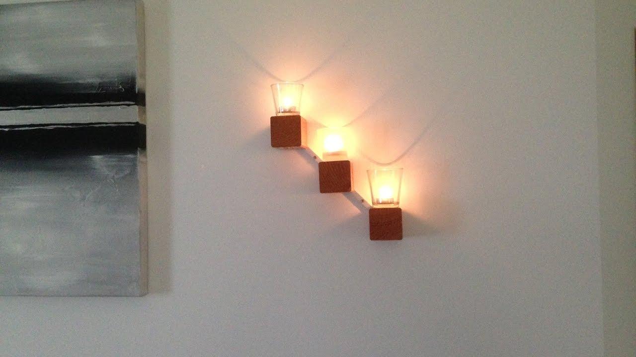 Kerzenhalter selber machen aus Holz - YouTube