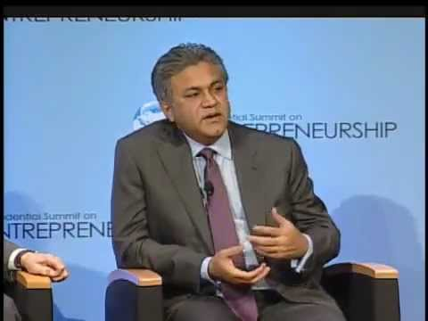 Abraaj's Arif Naqvi at the Presidential Summit on Entrepreneurship (Washington DC, 2010)