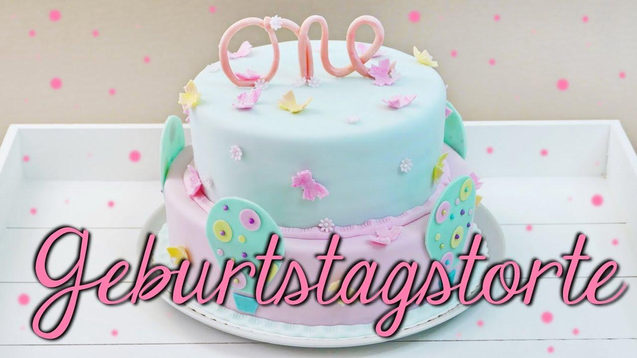 Geburtstagstorte Für Kinder Backen Auch Als Baby Shower Cake