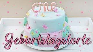 GEBURTSTAGSTORTE FÜR KINDER BACKEN | auch als Baby Shower Cake möglich [Motivtorte selber machen]