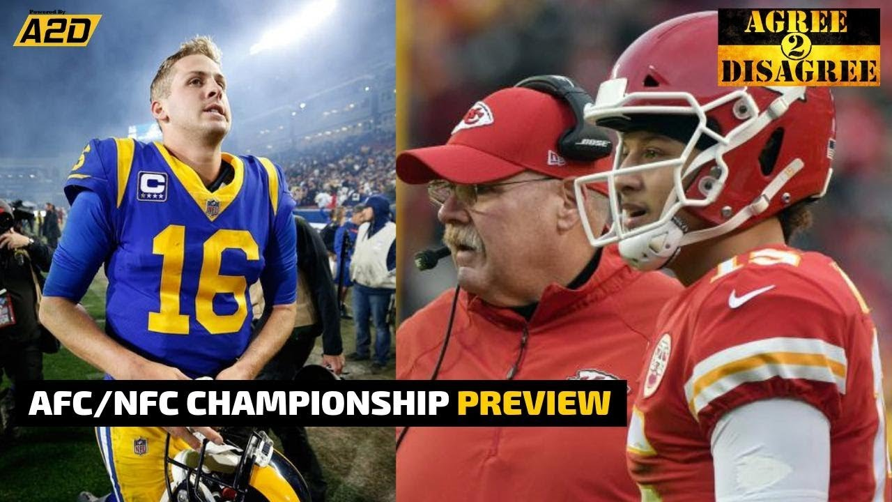 AFC NFC Championship Game Preview   Agree 2 Disagree