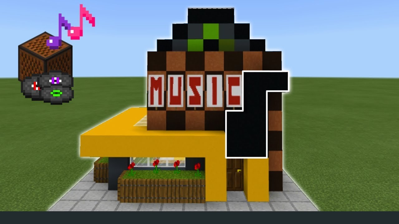"""Minecraft Tutorial: How To Make A Music Store """"2019 City ..."""