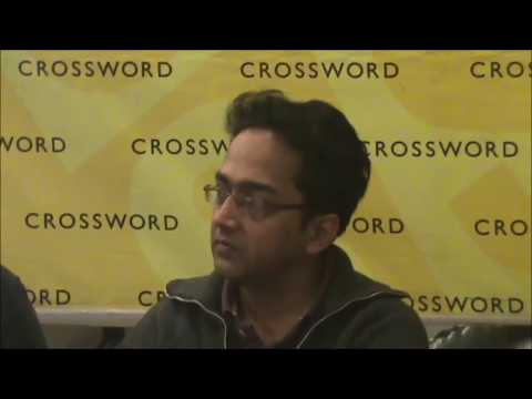 Rajat Chaudhuri reading a short story at Crossword, Bangalore
