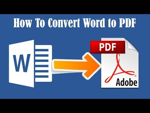 How To Convert A Word Documents To PDF (Easily) 2020