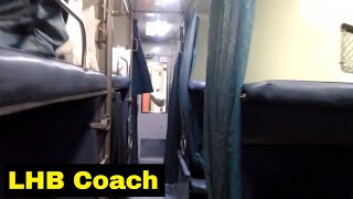 Modern Rajdhani Interior LHB Coach | 12951 Mumbai Rajdhani Express | Mumbai Central Terminus