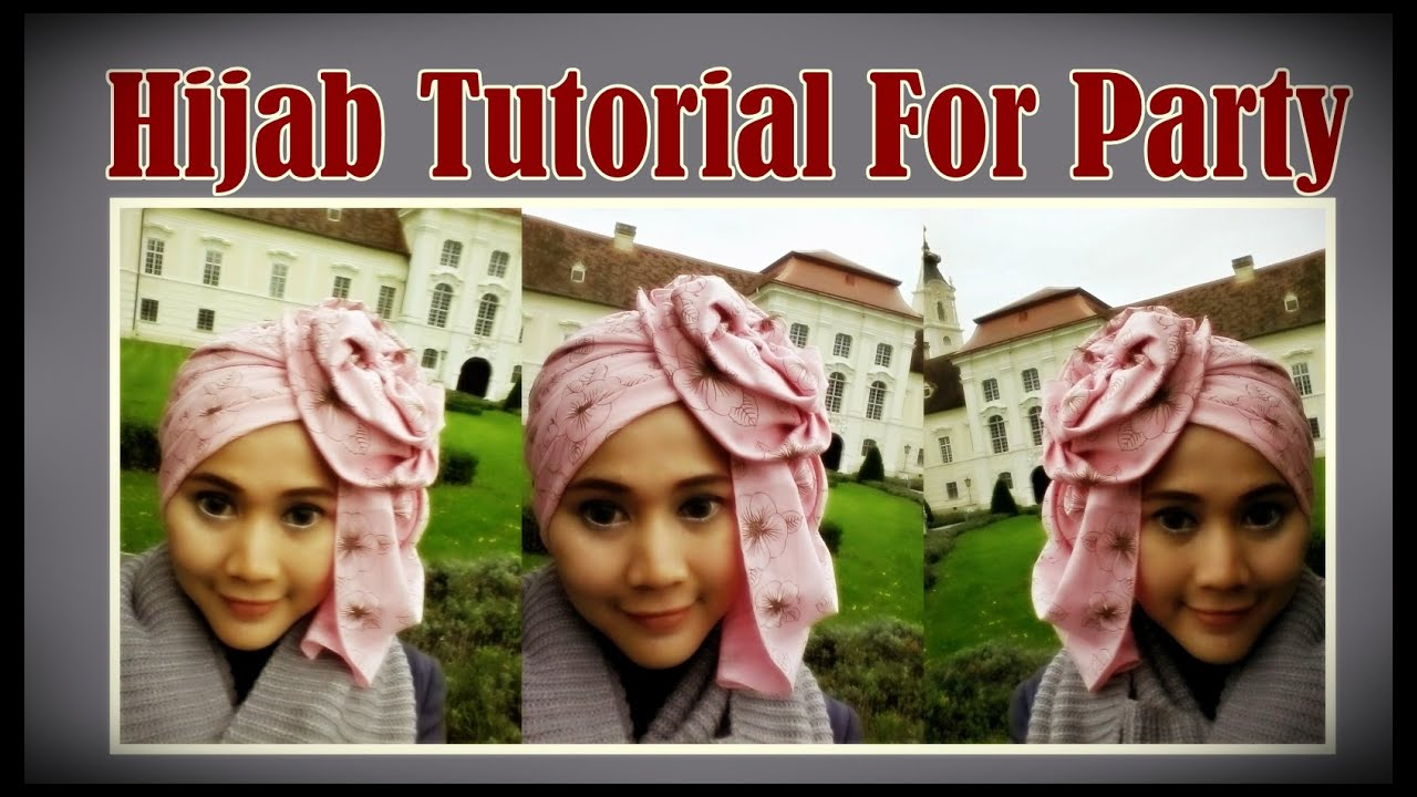 Model Jilbab Segi Empat Tutorial Hijab Pesta By Didowardah 53