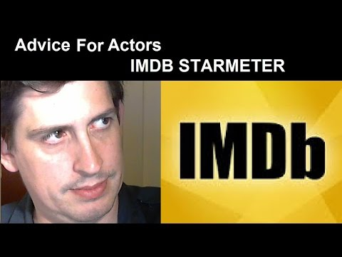 Advice for Actors - IMDb StarMeter
