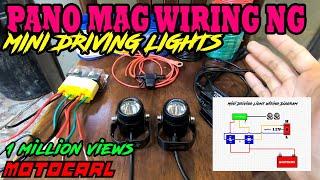Pano mag install ng mini driving light using 3way switch