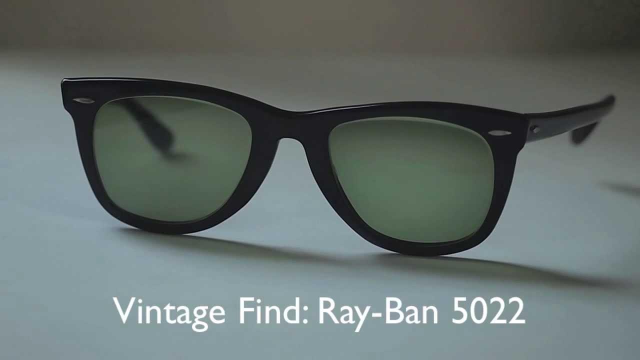 ec4578d85a Vintage Find  Ray Ban Wayfarer 5022 - YouTube