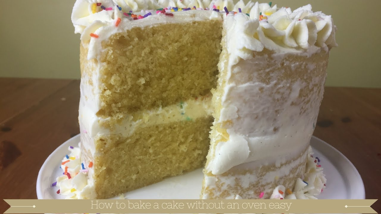 Cake Recipes In Telugu Without Oven: How To Bake A Cake Without An Oven Easy : Vanilla Steamed