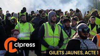 Gilets jaunes Acte 1 : incidents et tensions sur les Champs-Élysées (17 novembre 2018, Paris) [4K]