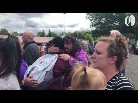 Armed gunman reported near Parkrose High School, students reunite with family