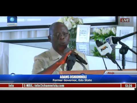 Nigeria Is Like A Ship, If Passengers Are Not Re-ordered It Will Sink-- Oshiomhole