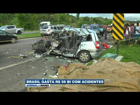 Brasil gasta R$ 56 bi só com gastos de acidentes de trânsito