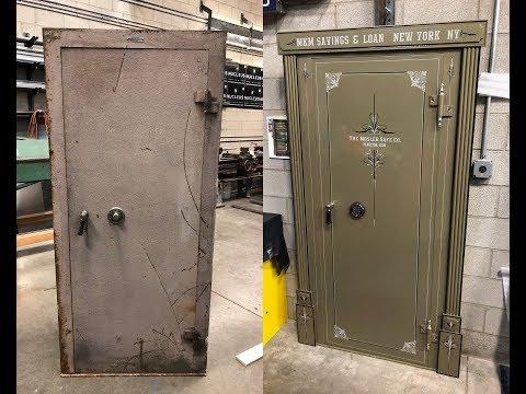 Panic Room Using A Modified Vintage Bank Vault Door