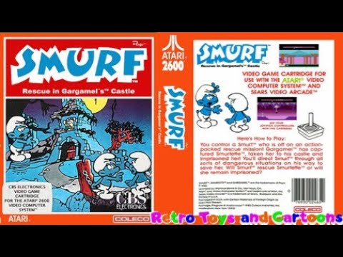 Smurf Rescue in Gargamel's Castle Commercial Retro Toys and Cartoons