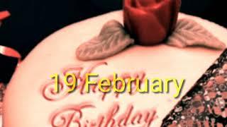 19 February Special birthday wishes status 2019, Happy birthday whatsapp status video...
