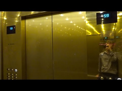 High Speed HiRise Otis Elevators  Aria Sky Suites  Las Vegas Nevada  YouTube