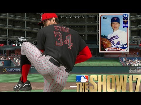 NOLAN RYAN IS UNTOUCHABLE! MLB THE SHOW 17 DIAMOND DYNASTY GAMEPLAY