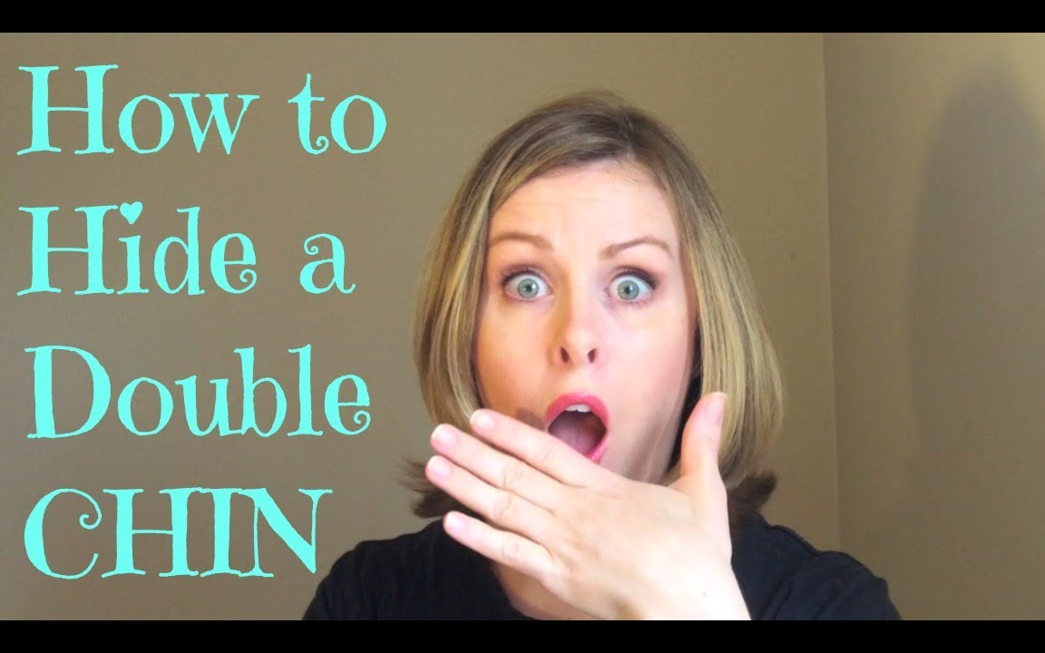 how to hide a double chin