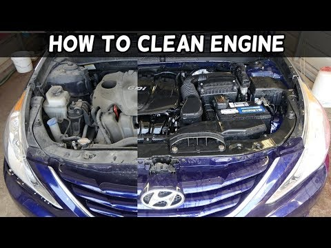 HOW TO CLEAN WASH CAR ENGINE. Amazing Results
