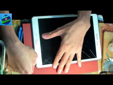 Tháo Samsung Tab A (P555/P551) thay cảm ứng-Màng hình