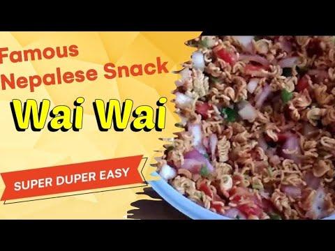 Famous Nepalese  Wai Wai  Snack