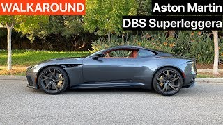 Aston Martin DBS Superleggera Walkaround + Sound (No Talking)