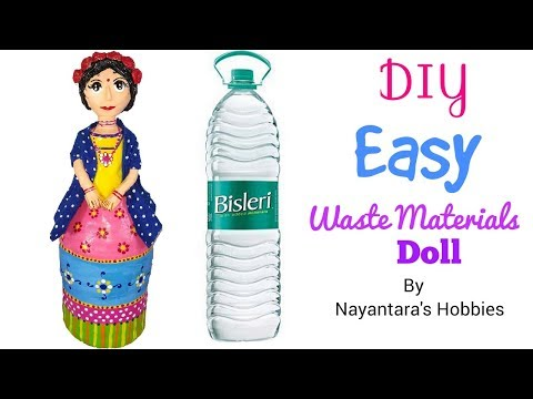 DIY Easy Doll From Waste Materials | Plastic Bottle Craft