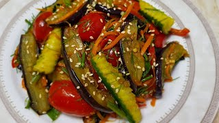 САЛАТ из Баклажанов по корейски/Баклажонли корейсча салат 😋😋😋😋