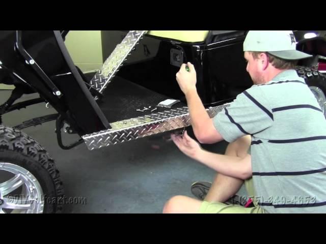 J /& O Carts Parts Jeep Wrangler TJ 3.5 Tall Rocker Panels Black Powder Coated Aluminum Diamond Plate