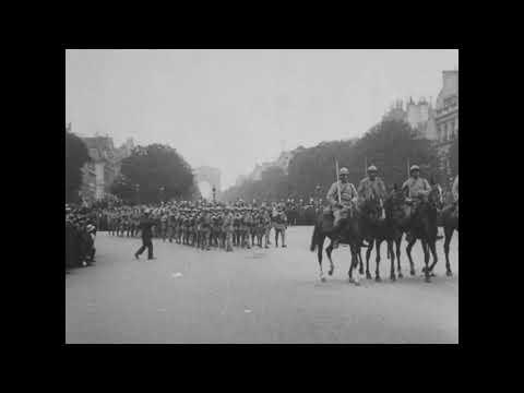 Celebrations in Paris-July 4, 1918