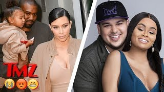 Rob Kardashian And Blac Chyna Back Together, Kim and Kanye Hire A Surrogate | TMZ BUZZ