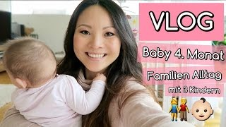 ALLTAG MIT BABY 4. MONAT | BABY LACHEN | PIKACHU KAMPF | FAMILIEN VLOG | Mamiseelen