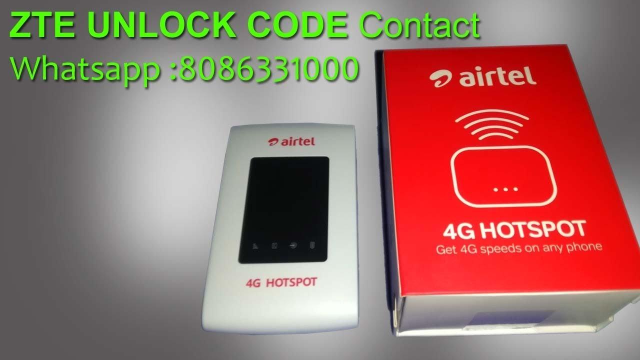 Airtel ZTE MF920V UNLOCK 100%