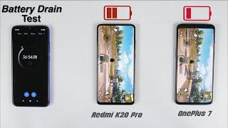 Redmi K20 Pro Vs OnePlus 7 Battery Drain & Charging Test Comparison!🔥🔥
