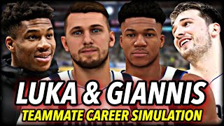 What If Luka Doncic & Giannis Antetokounmpo Were On The SAME TEAM? | NBA 2K20 Career Simulation