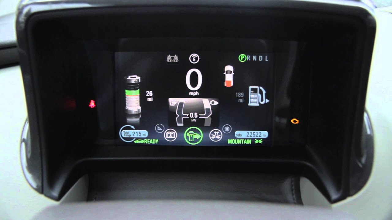 Chevrolet Volt 2017 Drive Modes Normal Sport Mountain Hold