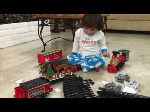 The North Pole Express train set up
