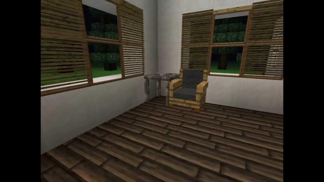Minecraft  Modern House With Jammyu0027s Furniture MOD   YouTube