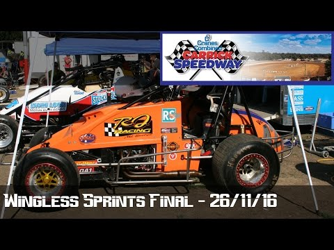 Wingless Sprints Final - Carrick Speedway 26-11-16 - dirt track racing video image