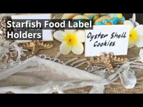 Resin Starfish Food Label Holder