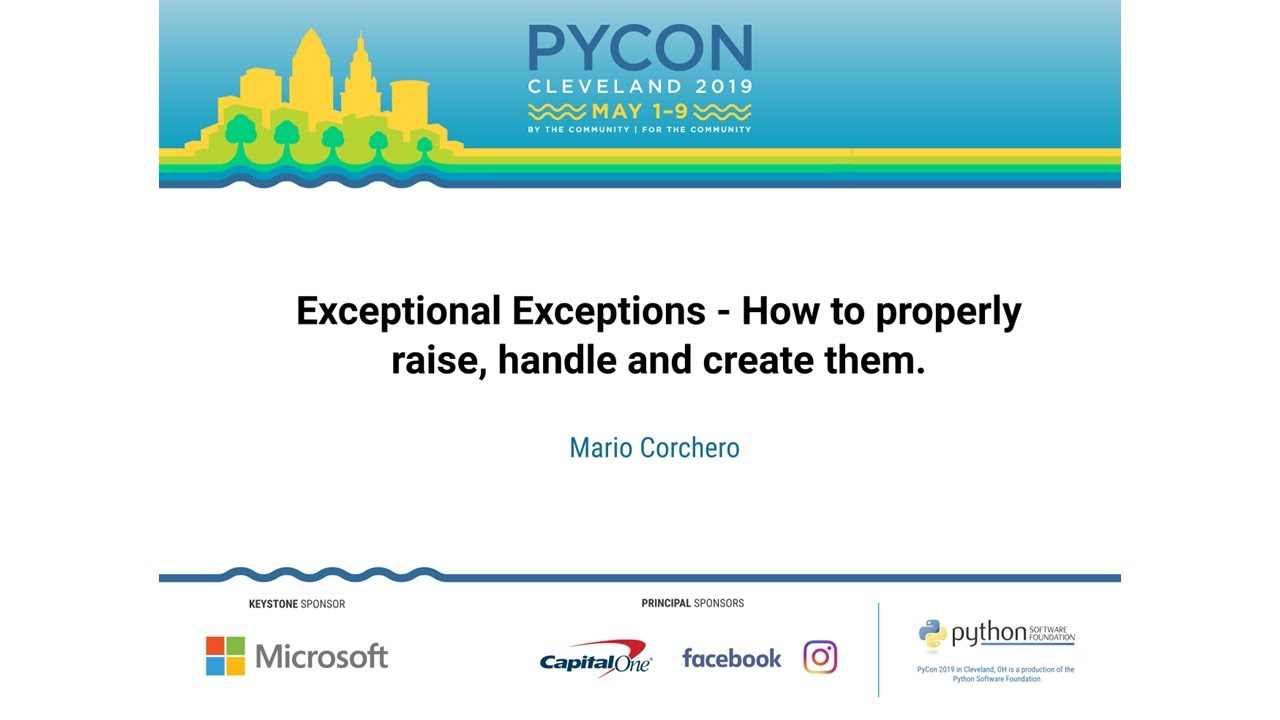 Image from Exceptional Exceptions - How to properly raise, handle and create them.