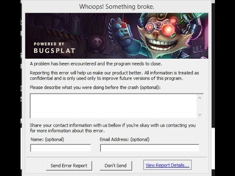 League Of Legends Bugsplat Dll Download