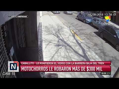 Ataque de motochorros en Caballito y La Tablada