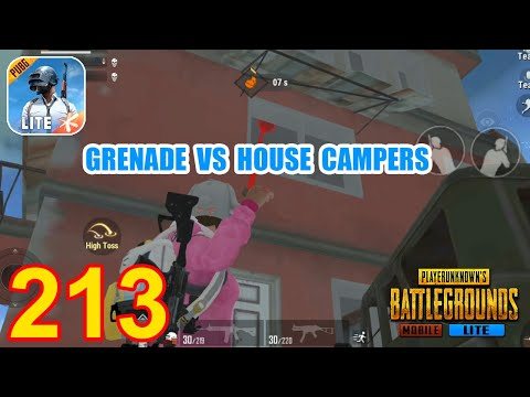 Grenade VS House Campers   PUBG Mobile Lite Epic Squad Gameplay