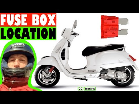 Vespa GTS Fuse Box Location and How to check fuses on Vespa GTS - YouTubeYouTube