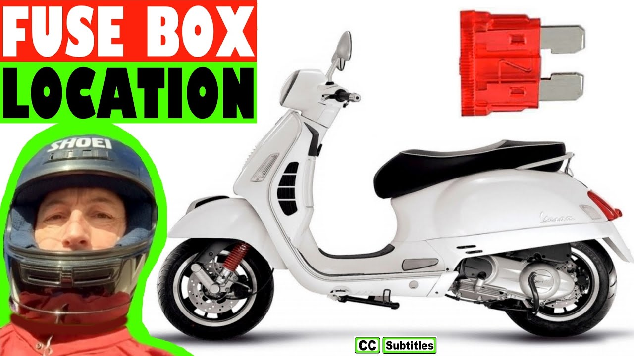 vespa gts fuse box location and how to check fuses on vespa gts rh youtube com vespa et2 fuse box vespa lx fuse box