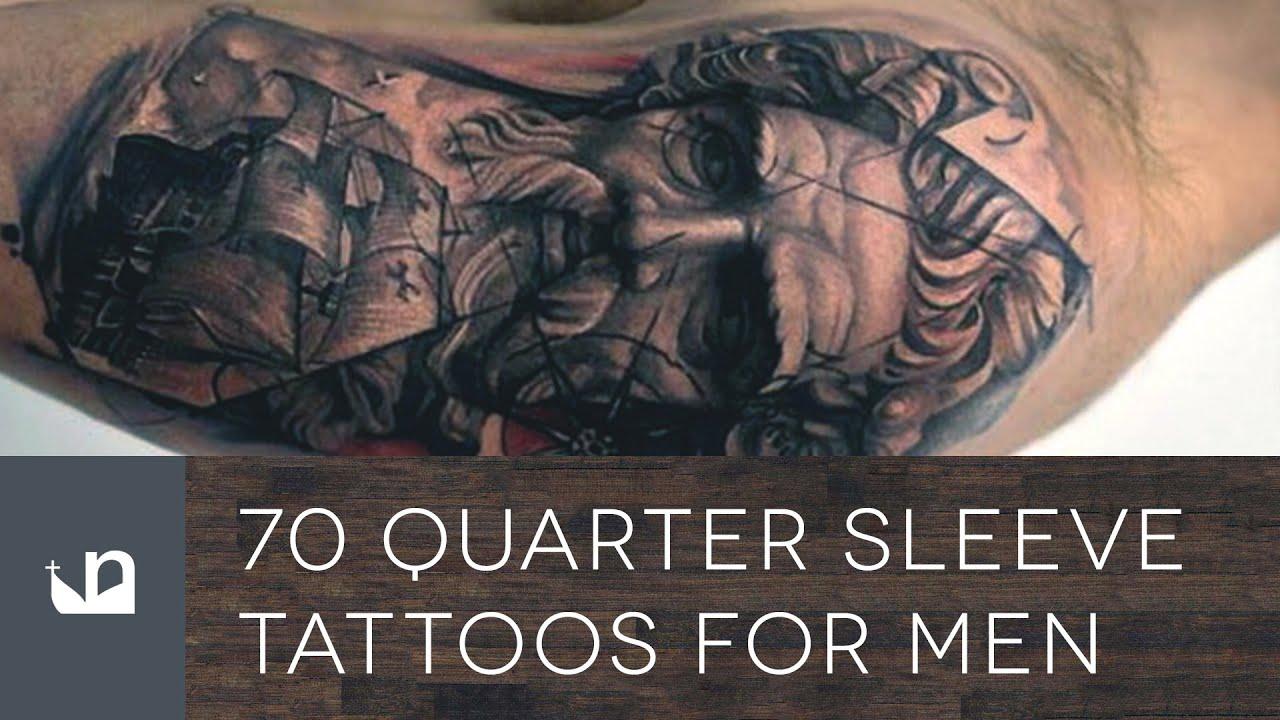 Quarter Tattoo Sleeve: 70 Quarter Sleeve Tattoos For Men